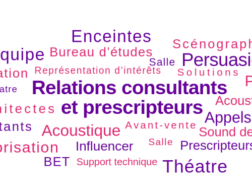 Relation Consultants et Prescripteurs – Pro Audio, France