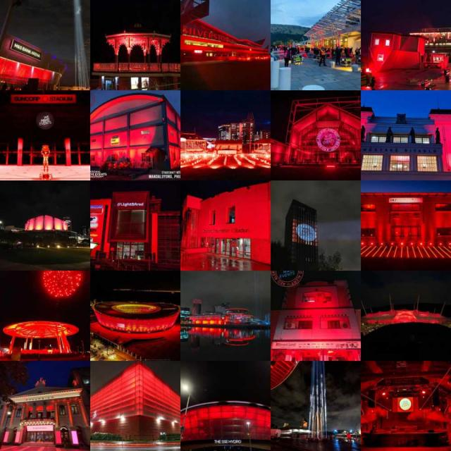 #WeMakeEvents light it red collage - Interfacio weekly news update 2 October 2020